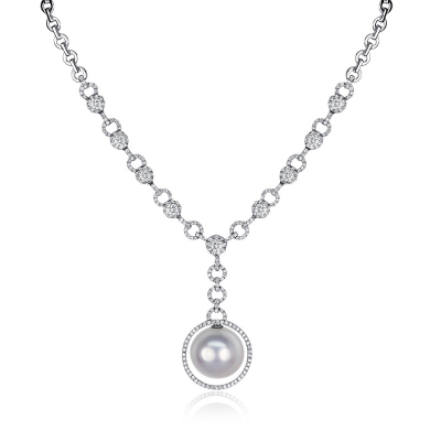 NECKLACE WITH PEARL AND DIMAOND