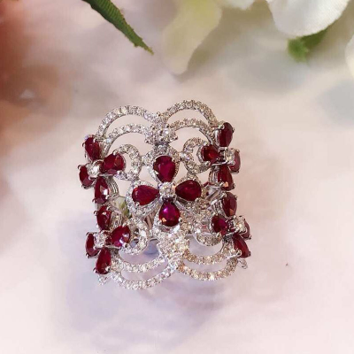 RING WITH RUBY AND DIAMOND