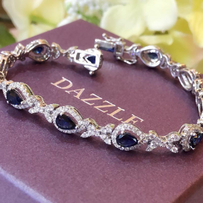 BRACELET WITH SAPPHIRE AND DIAMOND