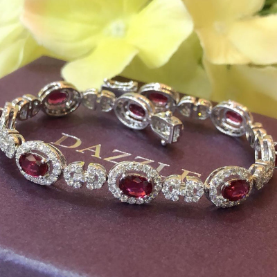 BRACELET WITH RUBY AND DIAMOND